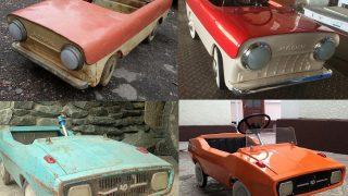 FOTO: Viņš izdomāja atjaunot PSRS laika bērnu mašīnītes – rezultāts lielisks!