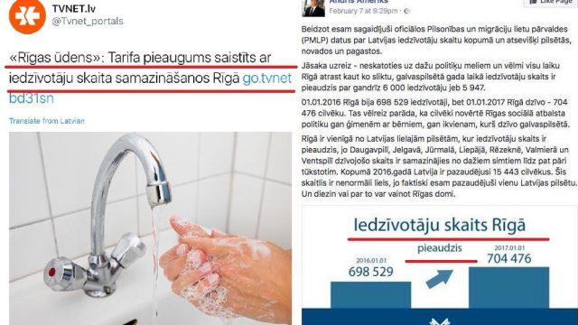 Rīgas ūdens ceļ tarifus, jo, it kā samazinās rīdzinieku skaits, bet, vai tā tiešām ir…!?