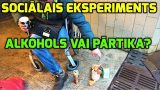 VIDEO: Sociālais eksperiments: Ko izvēlēsies Rīgas bezpajumtnieki – pārtiku vai alkoholu!?