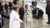 VIDEO: Šodien pie pašas Bundestāga ēkas noticis uzbrukums Angelai Merkelei!