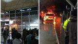 VIDEO: Londonas lidostā izcēlies milzu ugunsgrēks; evakuēti pasažieri!