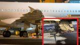 FOTO: Latvijas lidmašīnai ārkārtas nolaišanās brīdī pilnībā apstājušies abi dzinēji!