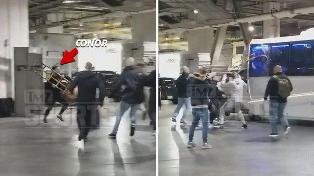 VIDEO: Publicēts video, kurā skandalozais cīkstonis Makgregors Ņujorkā izsit logu autobusam!